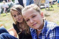 Девушки на фестивале Стоковые Изображения