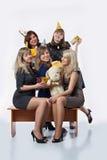 Девушки на paty Стоковая Фотография RF