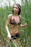 девушки нижнее белье outdoors прозрачное стоковые фотографии rf