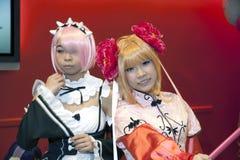 Девушки нося cosplay костюмы на жулике NY шуточном Стоковое Изображение RF