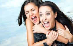 девушки ободрения screaming Стоковое Изображение