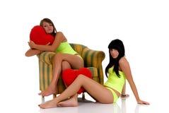 девушки ослабляя подросток Стоковое фото RF