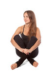 Девушки ослабляя в йоге Стоковые Фотографии RF
