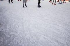 Девушки отслеживают кататься на коньках Стоковая Фотография