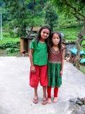 Девушки от Besisahar, Непала Стоковые Фото