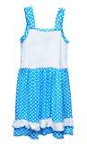 девушки платья предпосылки белизна голубой просто Стоковое Изображение