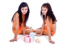девушки подарков Стоковое Изображение