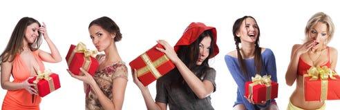 девушки подарков Стоковое Фото