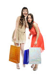 Девушки покупок Стоковые Фотографии RF