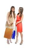 Девушки покупок Стоковое Фото