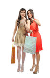 Девушки покупок Стоковое фото RF
