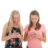 Девушки подростка с smartphone Стоковое Фото