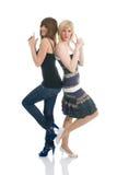 девушки представляя подросток Стоковое Изображение RF