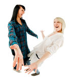 девушки приветствуя подростковые 2 Стоковые Фото