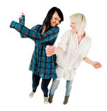 девушки приветствуя подростковые 2 Стоковые Фотографии RF