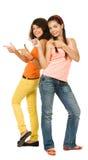 девушки радостные 2 стоковая фотография rf