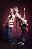 Девушки рок-н-ролл Стоковые Изображения