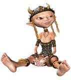 девушки сидя viking Стоковое Изображение