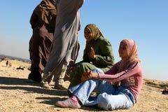 Девушки смеясь над в Каире Стоковые Фотографии RF