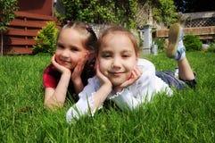 девушки счастливые Стоковая Фотография RF