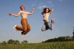 девушки счастливые Стоковая Фотография
