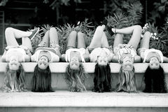 Девушки с длинними волосами стоковые изображения rf