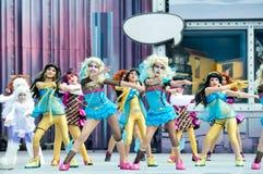 Девушки с розовыми глазами стоковые фото