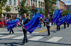 Флаги и девушки Стоковые Изображения RF