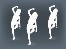 Девушки танцуют r стоковые фотографии rf