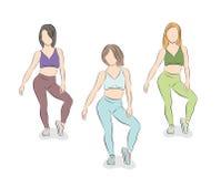 Девушки танцуют r стоковые изображения