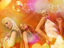 девушки танцы Стоковая Фотография RF