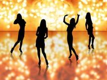девушки танцы Стоковая Фотография