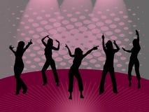 девушки танцы Иллюстрация вектора