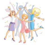 девушки торжества Стоковое Изображение