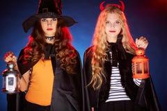 Девушки хеллоуина Стоковая Фотография RF
