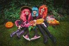 Девушки хеллоуина Стоковое Изображение