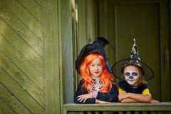 Девушки хеллоуина Стоковое Изображение RF