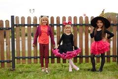 Девушки хеллоуина Стоковые Фотографии RF