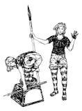 Девушки чернил Ywo Стоковые Фотографии RF