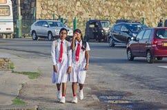 2 девушки школы Стоковая Фотография