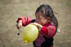 Девушки этнической группы Hmong Вьетнама Стоковое Изображение RF