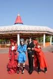Девушки японского характера аниме cosplay Стоковое фото RF