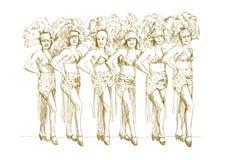 девушки cancan Стоковое Изображение RF