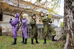 Девушки Cosplay молодые японские Стоковые Изображения
