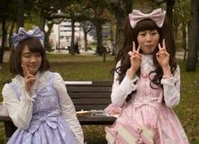 Девушки Cosplay, Хиросима, Япония Стоковое Изображение