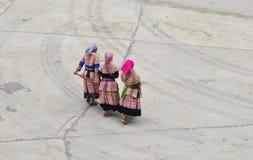 Девушки Hmong стоковые фотографии rf