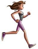 девушки jogging Стоковое фото RF