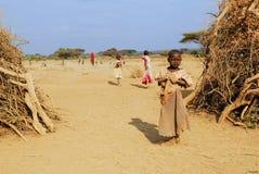 девушки masai трибы детеныши очень Стоковые Изображения RF