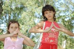 Девушки outdoors Стоковое фото RF