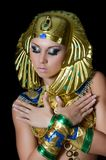 Девушк-танцор в costume Pharaoh Стоковое Изображение RF